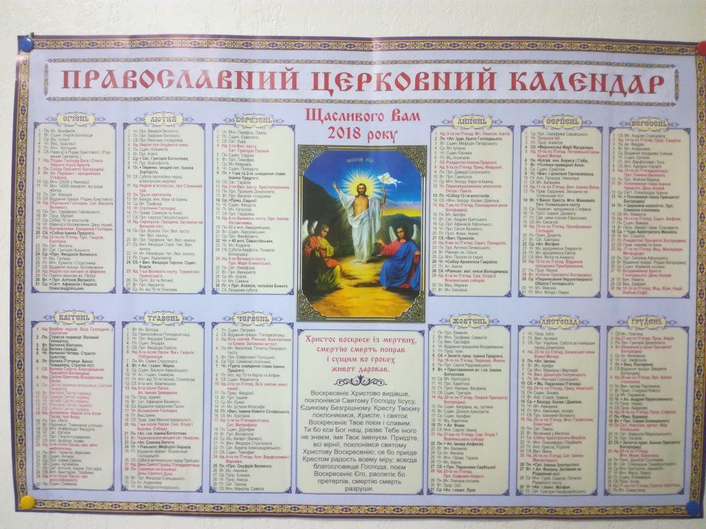 Церковный календарь – каждый день праздник