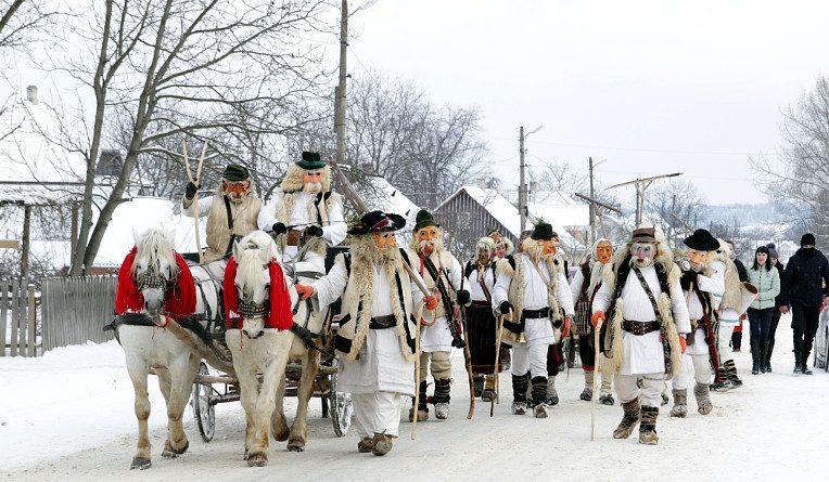 Традиционное празднование-маскарад Маланка на Буковине